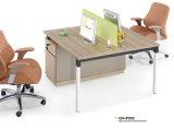 Estação de trabalho de madeira da mesa de escritório da mobília moderna com divisória