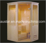 sauna d'angolo di legno solido di 1500mm per Multi-Person (AT-8602)