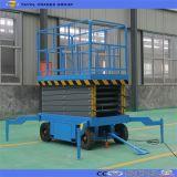 El uso remolcable popular del almacén hidráulico Scissor la plataforma de la elevación