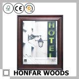 Festes Holz-Silber-Foto-Bilderrahmen mit weißer Matte