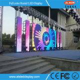 Beweglicher im Freienmiete P10 LED-Schaukasten für Stadium