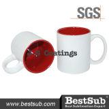 La sublimazione dei rivestimenti di Js attacca le tazze di colore Two-Tone 11oz - B11naa-02 rosso