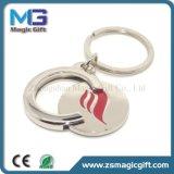 Carrello rotondo in bianco personalizzato Keychain del metallo