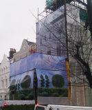 Bandera al aire libre del acoplamiento del abrigo del vinilo del edificio, bandera del acoplamiento de la talla del formato grande