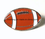 Изготовленный на заказ значок Pin сплава цинка клуба шарика рэгби металла