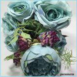 가정 훈장 부속품 훈장 Mariage를 위한 고품질 가짜 로즈 인공 꽃