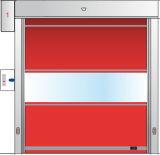 Porte rapide à grande vitesse d'obturateur de PVC d'épreuve automatique de vent