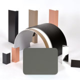 Épaisseur de la peau en aluminium en aluminium du composé Panel-0.40mm de faisceau Incendie-Évalué de l'extérieur 4mm d'Aluis de gris de PVDF