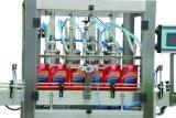 潤滑油エンジンオイルの潤滑油オイルの粘性液体びん詰めにされた充填機