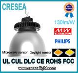 Diodo emissor de luz do armazém que ilumina o louro elevado do UFO dos lúmens elevados 15000lm 150W