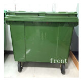 Escaninho de lixo de 660 litros com rodas
