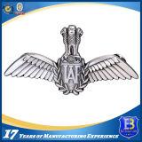 Divisa promocional del Pin de metal con el laminado de plata