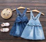 Falda de la liga del dril de algodón de la manera del verano de las muchachas de los cabritos