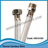 Boyau flexible en fils d'acier inoxydable tressés pour les mélangeurs (H02-001)