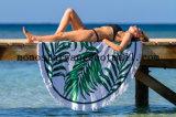 Reattivo di Microfiber stampato intorno al tovagliolo di spiaggia del cerchio con di alta qualità