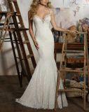 Do vintage do laço vestidos 2017 de casamento nupciais Wm1704