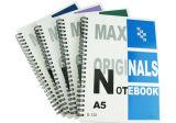 Papel del cuaderno espiral de cuatro colores para las escuelas y el uso de la oficina