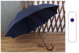 Hölzerner gerader Stab-Antiaufstand-Regenschirm der verbiegenden Haken-super langer Griff-automatischer Regenschirm-Geschäftsleute