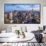 De Stad van New York bij het Af:drukken van het Canvas van de Mening van de Nacht