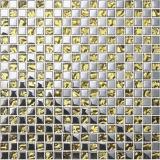 tegel van de Vloer van het Mozaïek van het Glas van 10*10mm de Gouden