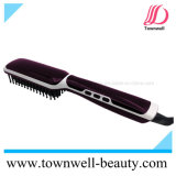 Veloce riscaldare i capelli che raddrizzano la spazzola con il rivestimento di ceramica del Tourmaline ed il generatore dello ione
