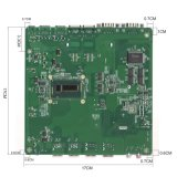 Industriële Mini Dubbele LAN van PC I5 4200u Dubbele Computer HDMI