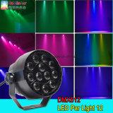 Verlichting van de Disco van de Partij van het Huis RGBW van het LEIDENE PARI 12PCS van het PARI de Lichte 1W Lichte