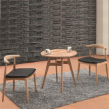 (SP-CT732) 고전적인 스칸디나비아 호두 색깔 목제 다방 테이블 및 의자
