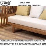 Sofà moderno del tessuto di legno solido dell'Asia Sud-Orientale per mobilia domestica D15