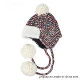Chapéu feito malha POM acrílico do Beanie do chapéu do chapéu POM do Knit do jacquard