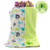 Short Fleece Baby Blanket con Sherpa Backside con bordado