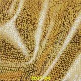 Couro do plutônio da patente do falso da alta qualidade para sapatas da forma