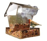 Alimentador transparente acrílico do pássaro com baixo preço para dois pássaros