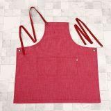 Grembiule registrabile del cotone di modo della cucina rossa promozionale (RS-170301A)