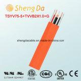 Tsyv75-5+Tvvb2X1.0+G кабель CCTV 75 омов коаксиальный для подъемов