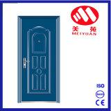 Puerta exterior de la cañería de acero revestida de la seguridad del polvo de las puertas de la casa