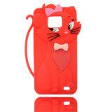 キリンパターン携帯電話のための動物のシリコーンの箱