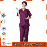 Les uniformes d'infirmière de collet de la fabrication V de la Chine médicaux frotte le modèle