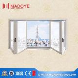 Ventana plegable de alta calidad / doble bisel de aluminio de la ventana