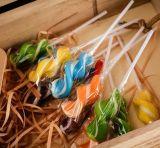 конфета Lollipop утки желтого цвета конструкции коробки 3D трудная