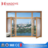 Qualität lamelliertes doppeltes glasig-glänzendes windundurchlässiges Aluminiumflügelfenster Windows