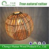 Lámpara ligera hecha a mano de la pantalla del bambú que teje