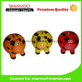 Decoración de cerámica animal ahorrar dinero caja de moneda para el hogar