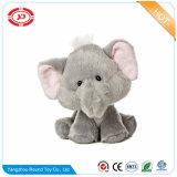 새로운 견면 벨벳 장난감 코끼리에 의하여 채워지는 앉는 동물성 크리스마스 Keychain