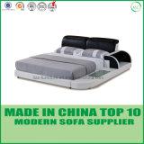 Modernes einfaches Schlafzimmer-Möbel-Leder-doppeltes Bett