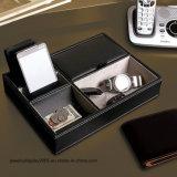 Organizador de joyería Valet Tray Box Holder Compartimento Wallet Teléfono