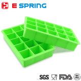 Kaltes Eis-Würfel-Hersteller-Silikon formt 15 Würfel-Gefriermaschine-Quadrat-Eis-Tellersegmente