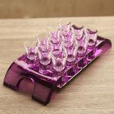 Supporto di bottiglia di plastica acrilico del vino
