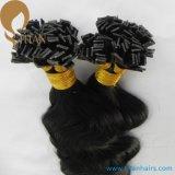 Extensions plates de cheveu d'extrémité de Remy de kératine indienne de cheveux humains