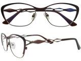 ステンレス鋼フレームガラスの最新の接眼レンズフレームの方法Eyewear